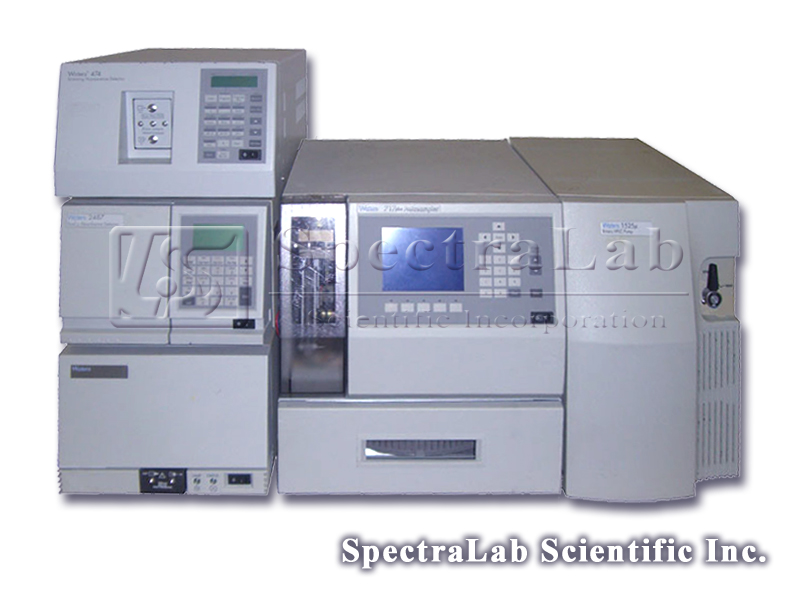 Waters 1525 HPLC system with Waters 1525 Binary HPLC Pump, Waters 717 Plus Autosampler, Waters 2487