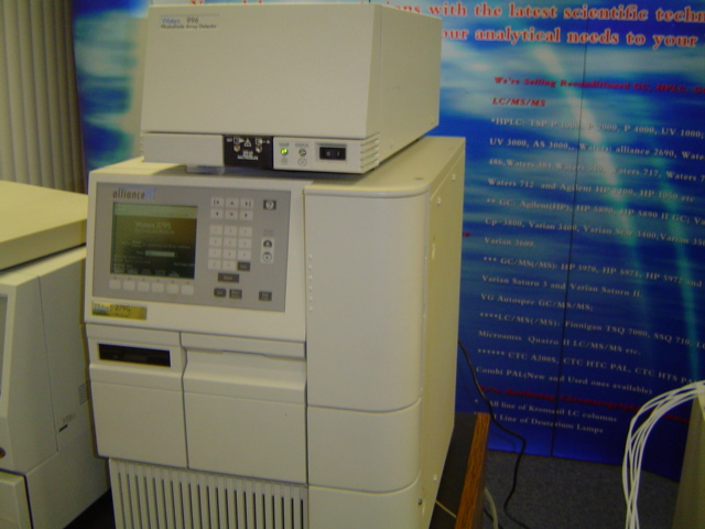 Waters Alliance 2790 HPLC system with Waters 996 PDA Detector