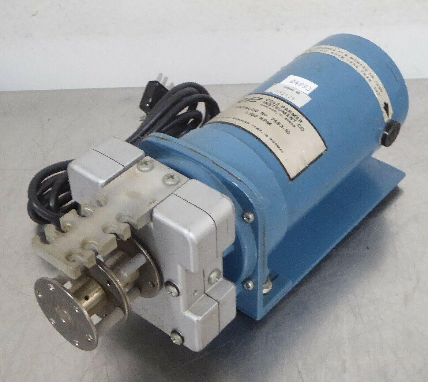 T166362 Cole Parmer 7553-10 Pump Drive Motor w/ He