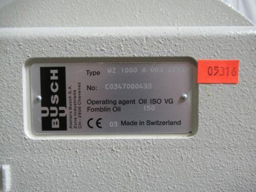 T176100 Busch WZ 1000 A Vacuum Booster Pump WZ 100