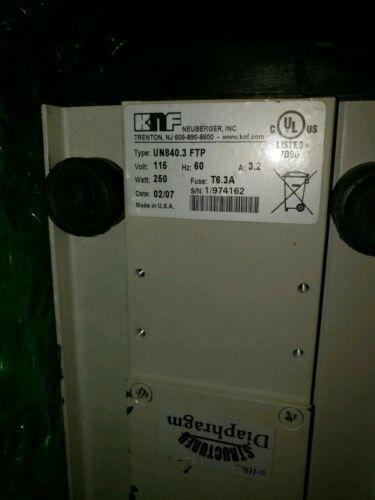 KnF Laboport UN840.3FTP Vacuum Pump PTFE Heads for