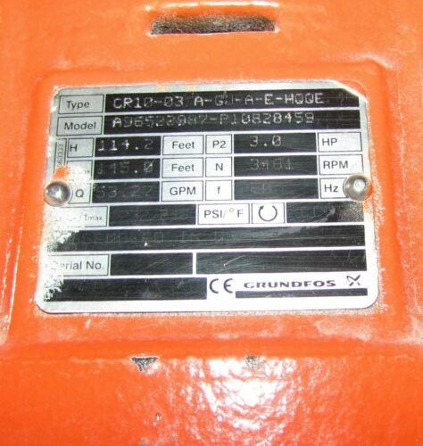 ^^ GRUNDFOS / TIGERFLOW CR10-03.A-GU-A-E-HQQE VERT