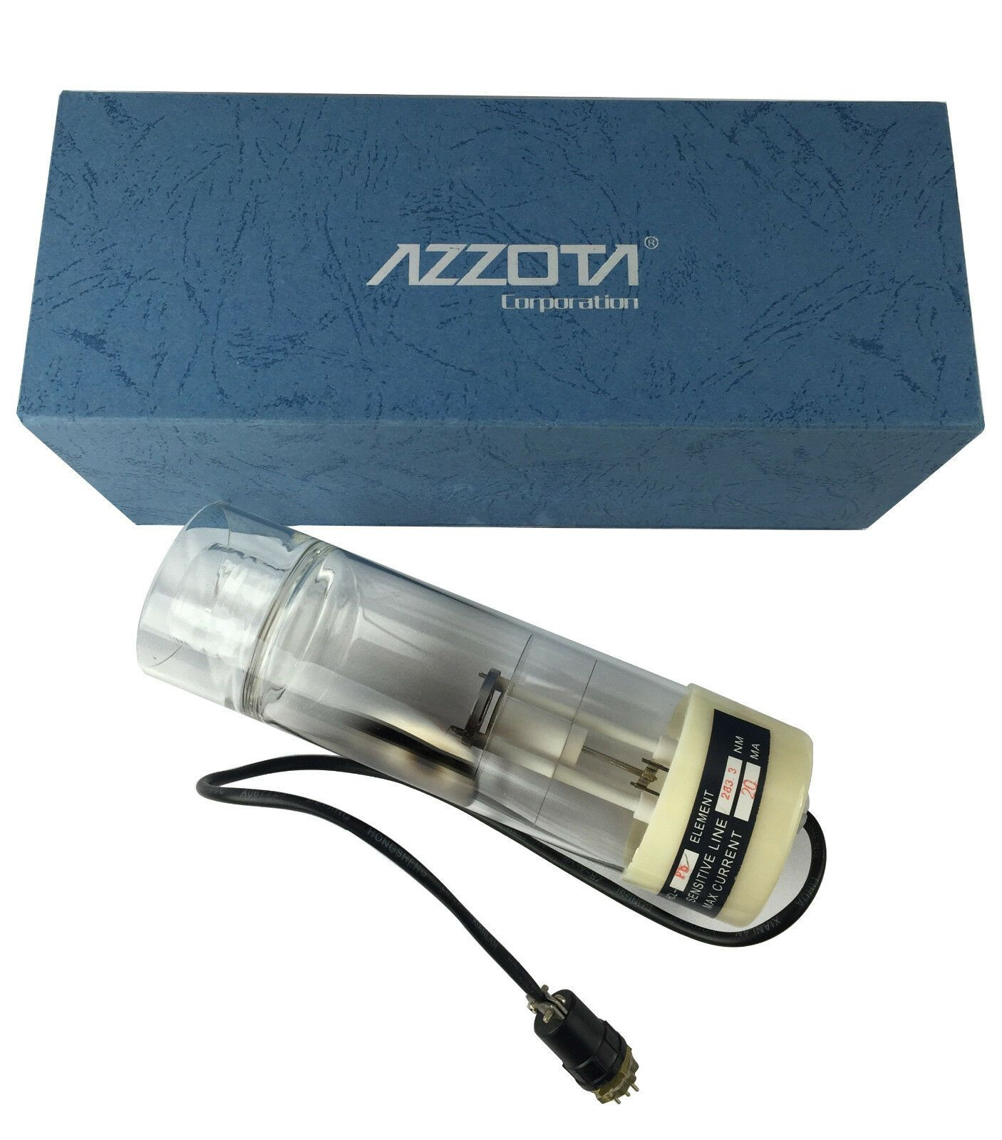 "Azzota 2"" Hollow Cathode Lamp, Mercury (Hg)"