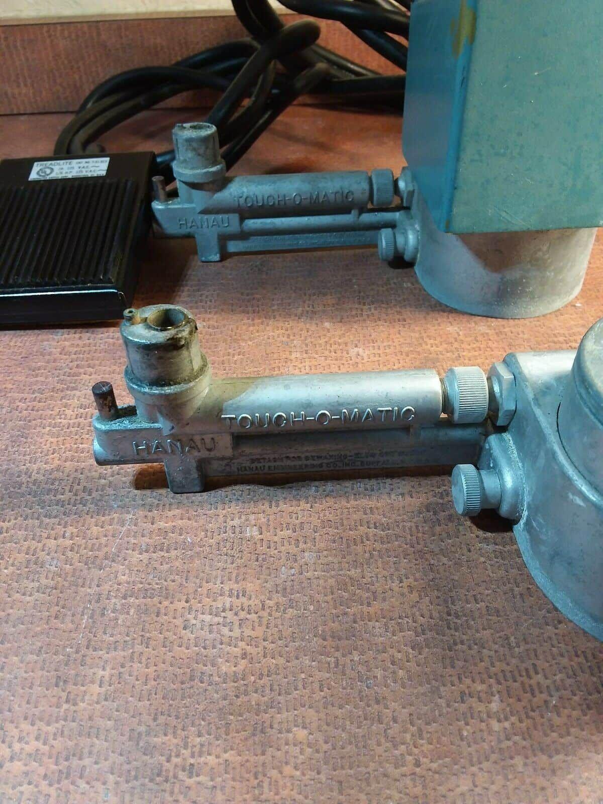 BellCo Treadlite switch w/2 Hanau Touch-O Matic Bunsen Burners