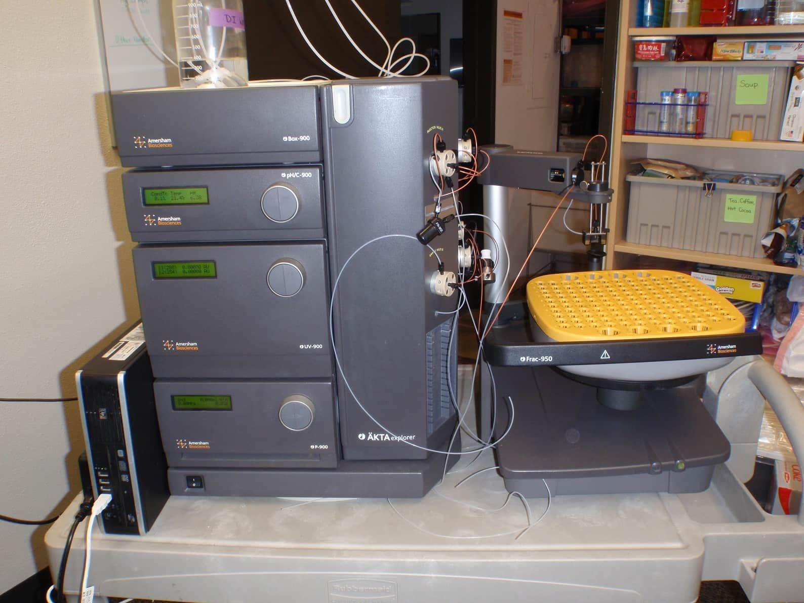 ** Summer Sale!!**  Fully Refurbished Amersham Bioscience AKTA Explorer 100 FPLC w/ Frac-950 + Desktop PC