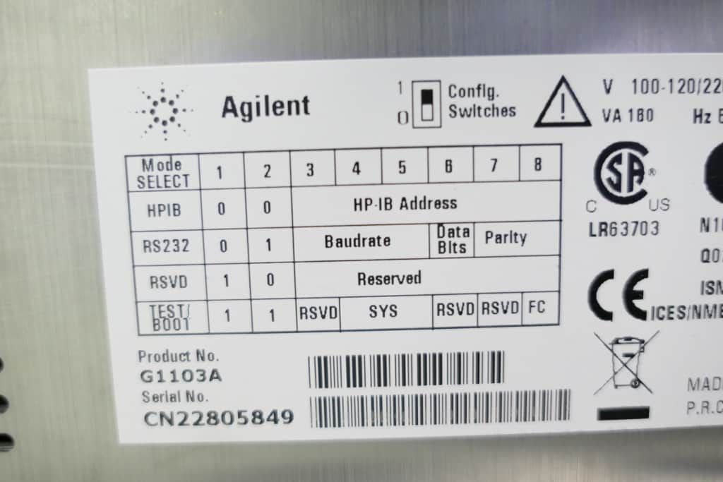 Agilent 8453 UV Vis spectrophotometer G1103A with Warranty SEE VIDEO