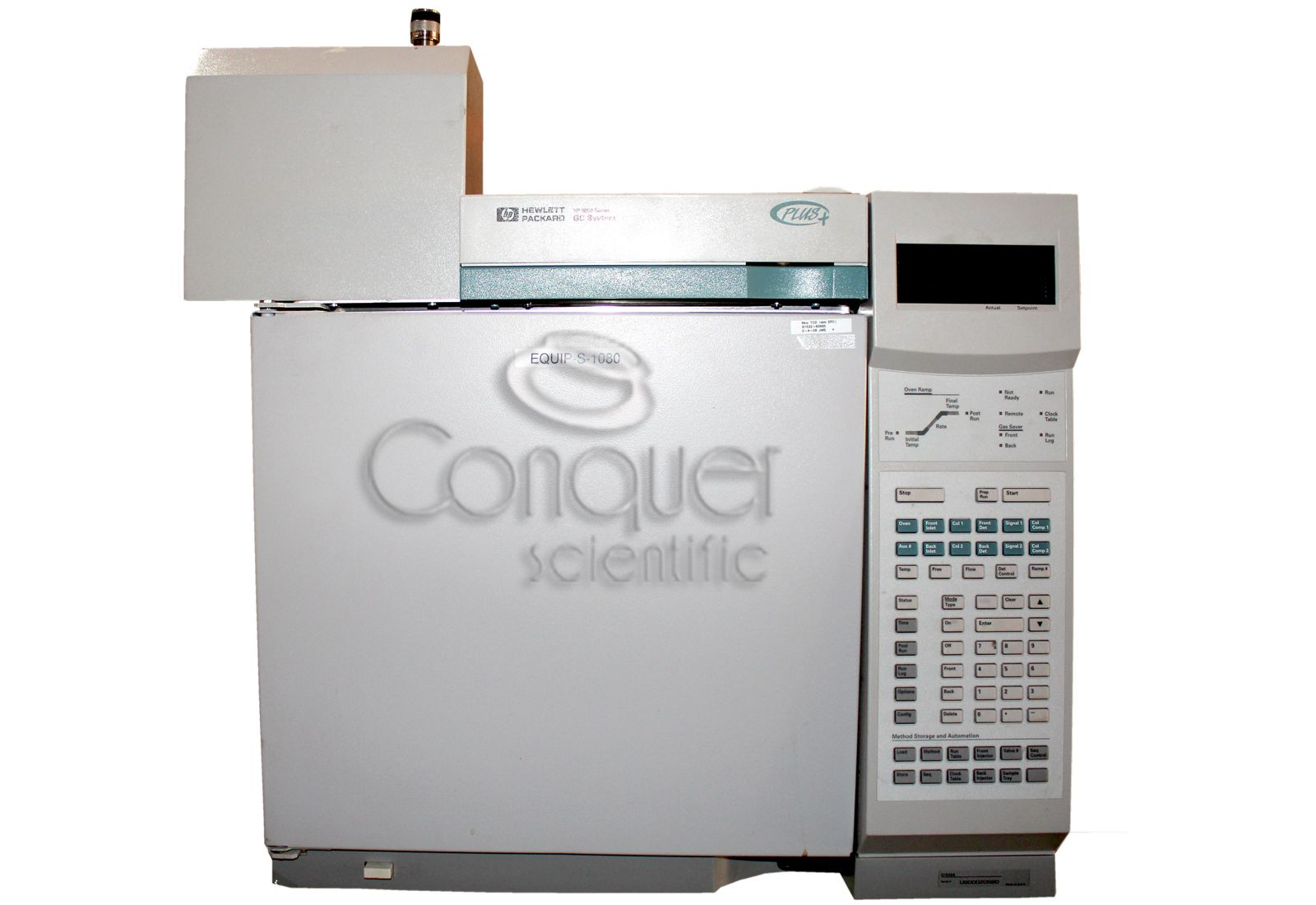 AGILENT/HP 6890 PLUS GC for Gas Analysis with FID & TCD