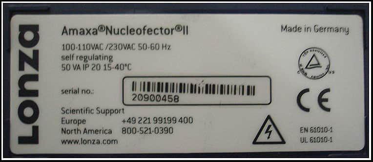 Amaxa Nucleofector II Electroporator w WARRANTY