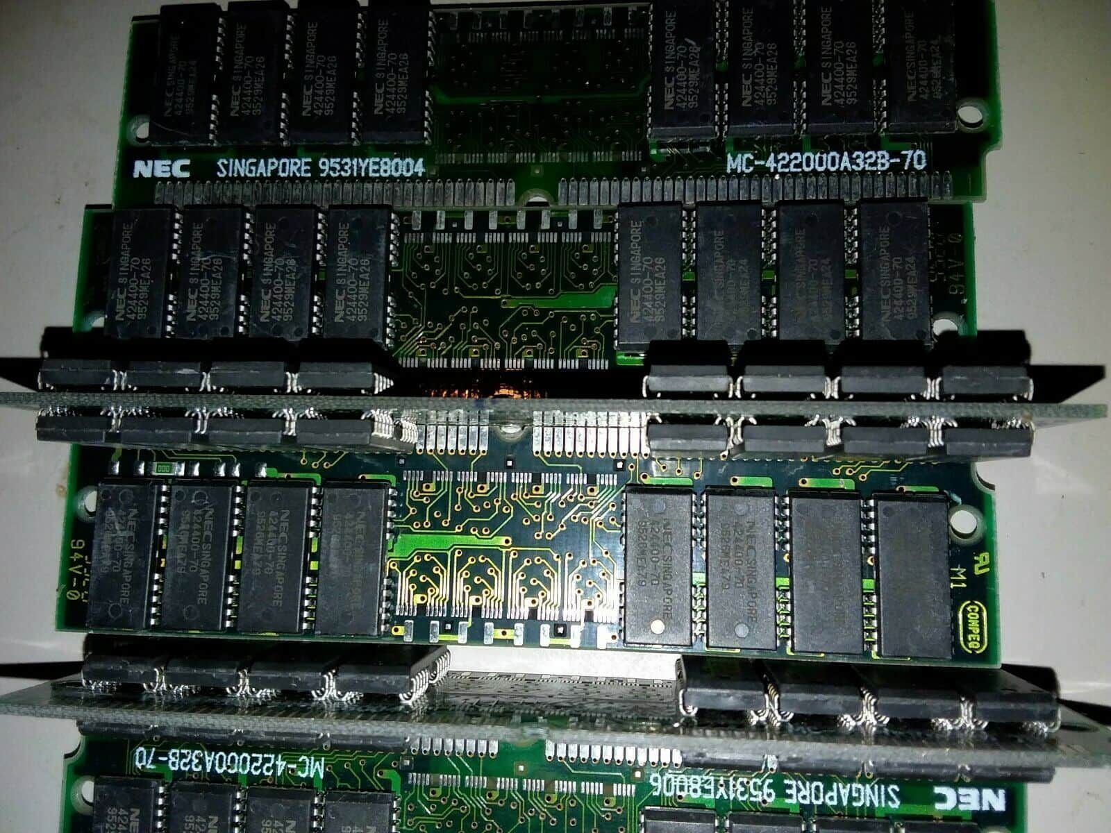 MC-422000A32B-70 NEC 8MB Simm Non Parity FastPage Memory tested lot of 6 a4
