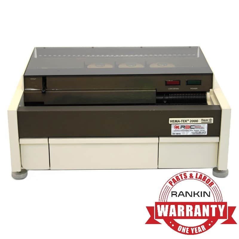Bayer/Siemens Hema-Tek 2000 Slide Stainer | Rankin 1-Year Parts & Labor Warranty