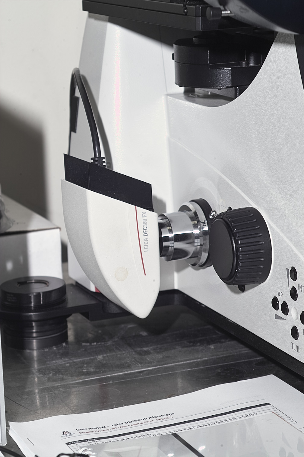 LEICA MICROSCOPE INVERTED DMI-6000B LED EPI-FLUORESCENCE WITH PHASE AND DIC - DIGITAL