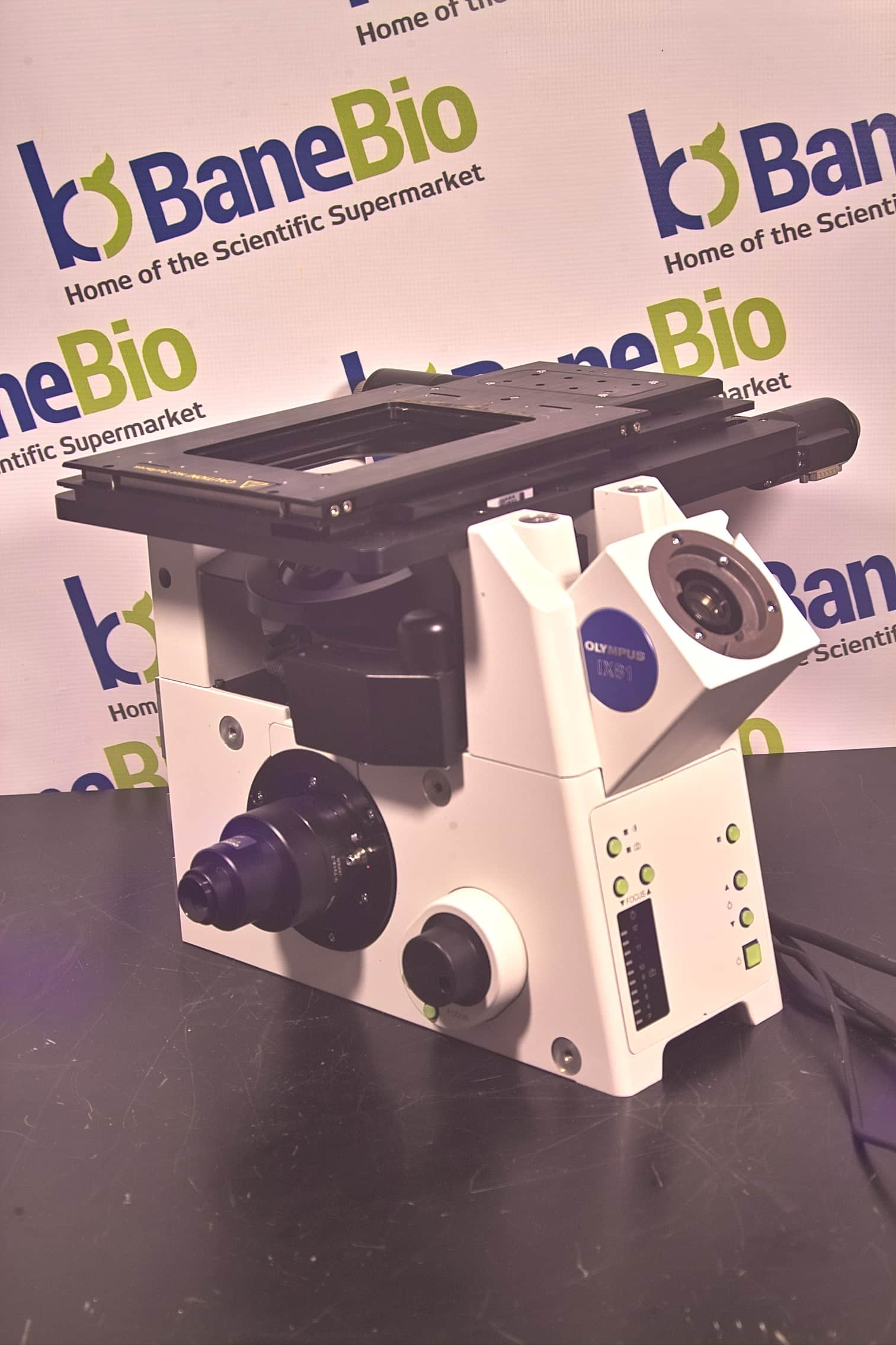OLYMPUS IX81 INVERTED LIVE CELL MICROSCOPE WITH MOTOR XY STAGE-DIY SPIM FOUNDATION
