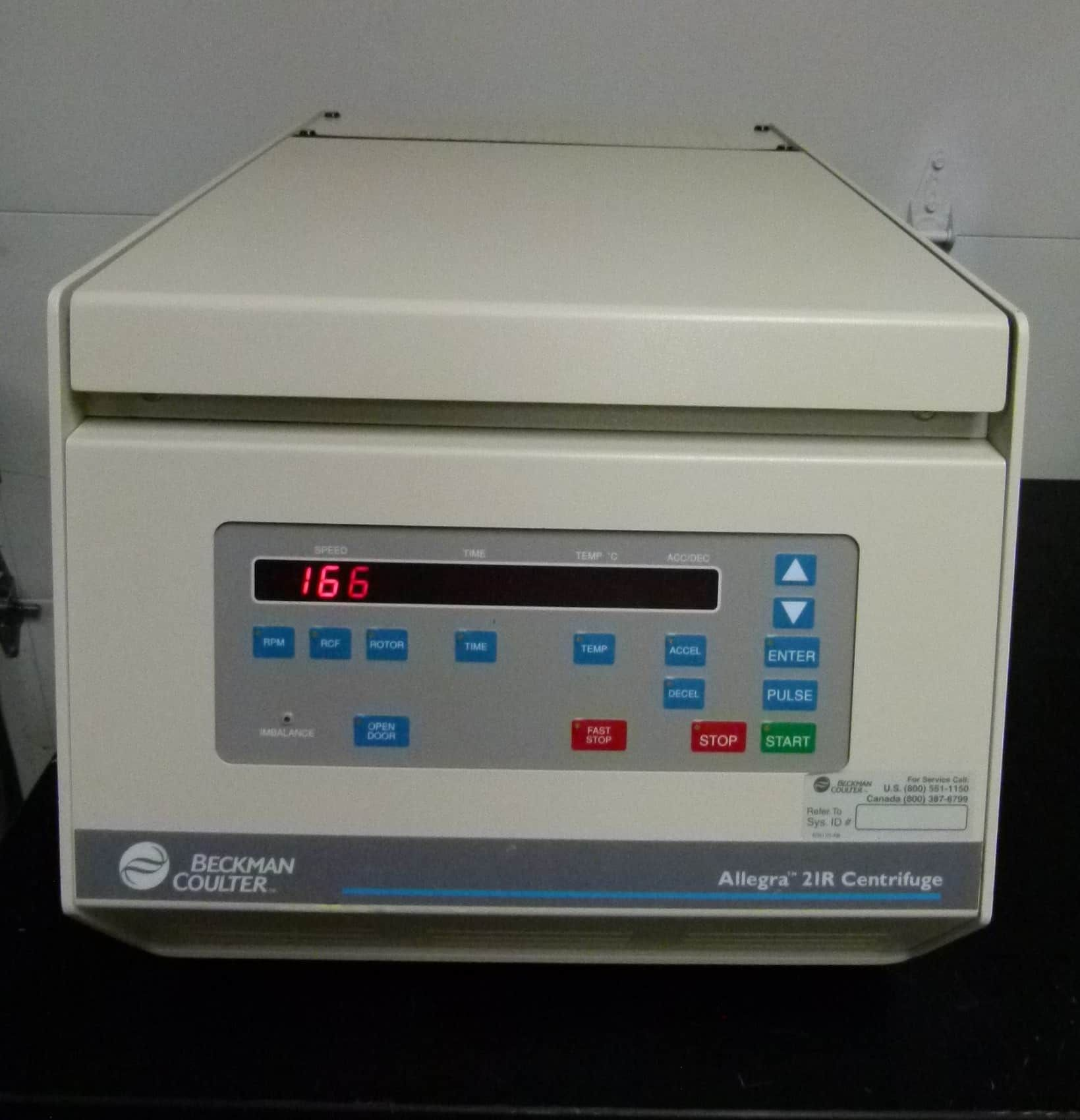 Beckman Coulter 21R Bench-Top Refrigerated Centrifuge with Rotor