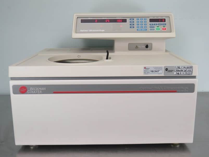 Beckman Coulter Optima MAX 130K- Certified with Warranty