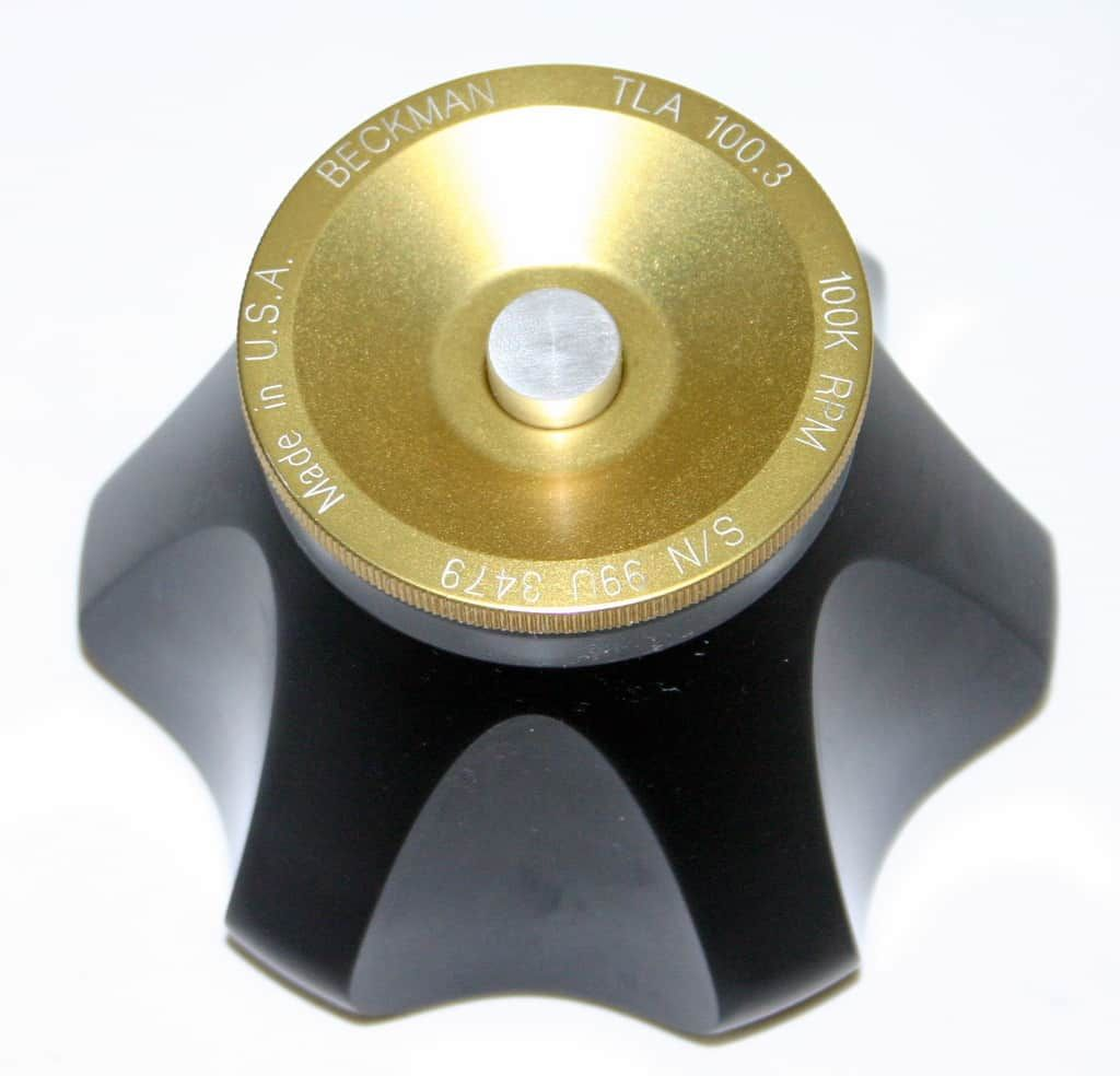 BECKMAN ULTRACENTRIFUGE FIXED ANGLE TITANIUM ROTOR, MODEL TLA-100.3, 6 x 3.5 ML
