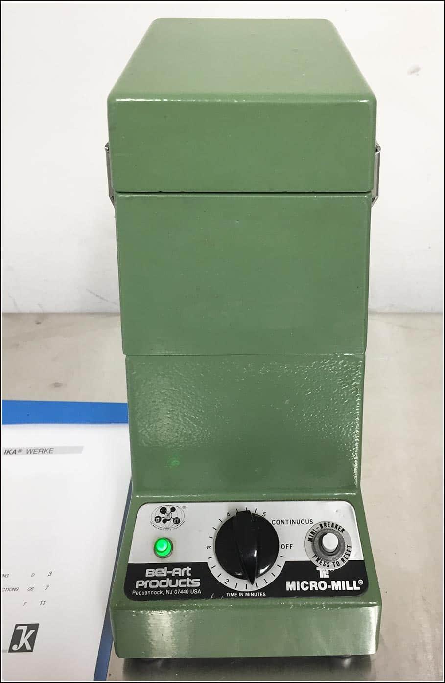 Bel-Art Mini Mill Grinder Homogenizer IKA MS20 w Timer & WARRANTY