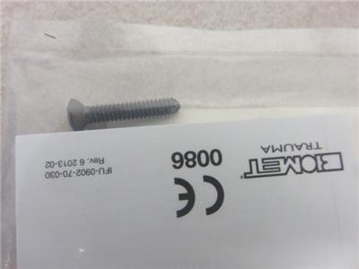 DePuy / Biomet Orthopedic Titanium Cortical Screws 3.5mm- Lot of 15 *New*