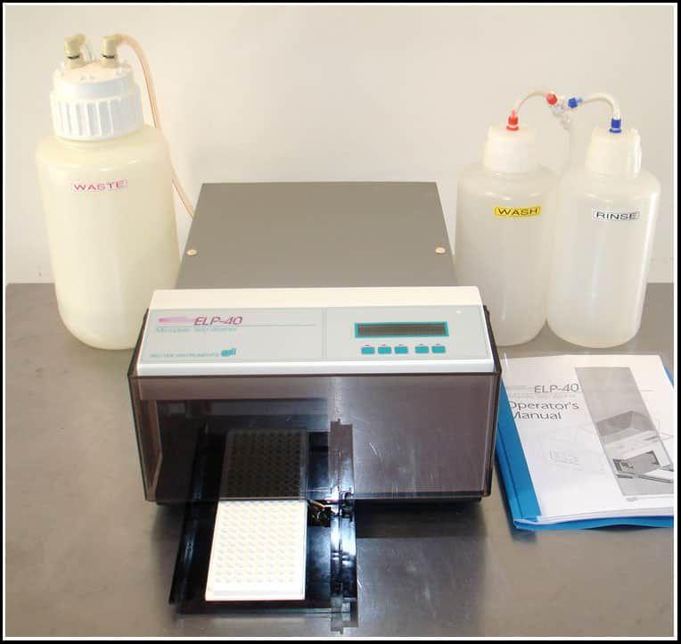 Bio-Tek Microplate Strip Washer ELP-40 8 Channel w WARRANTY