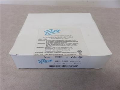 Bovie ES01 Standard Blade Electrodes Box of 50- Exp. 7/2014