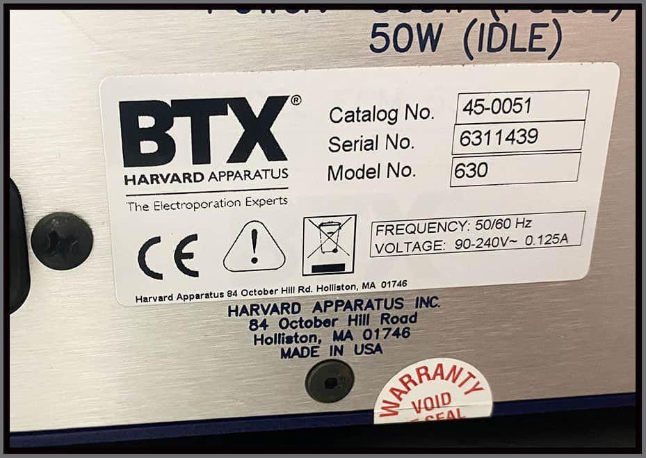 BTX Cell Porator Electroporation ECM 630 System w WARRANTY