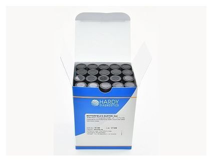 Hardy Diagnostics Butterfield's Phosphate Buffer - 16x125mm Tube, 10ml fill, 20/pk