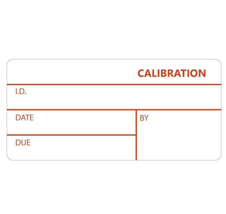GA International Self-Laminating Calibration Labels