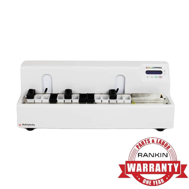 Rankin ColorPro Slide Stainer | 1-Year Parts & Labor Warranty