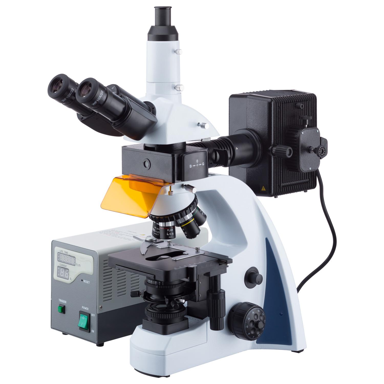 AmScope 40X-1000X Corrected Fluorescence Microscope