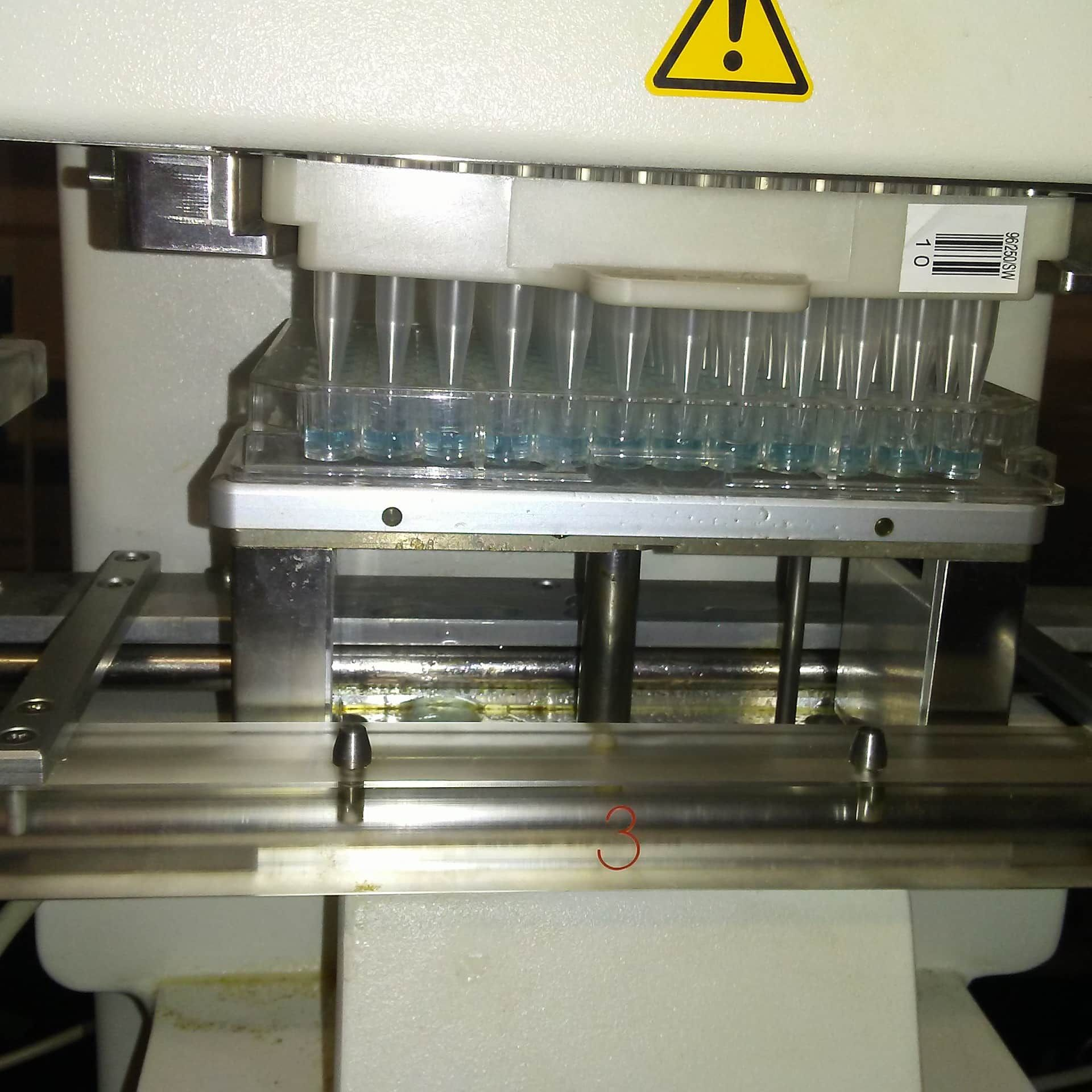 Microplate dispenser/pipetting/handling Luiquid Cybio Vario System