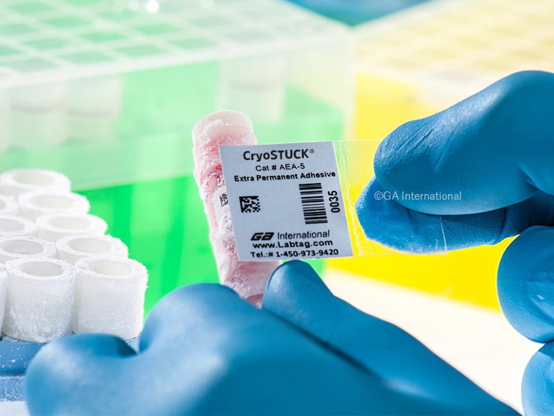 CryoSTUCK® Labels for Frozen Vials and Containers (Roll Format)