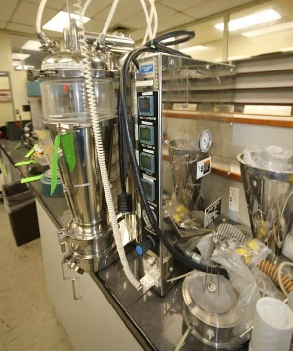 Fluid Air Laboratory Scale Fluid Bed Dryer, Model 2. 240 Volts, 1 Phase, with Accessories