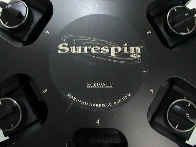 Thermo Scientific Sorvall Surespin 630 Super Spin Rotor with Six (6) 147.6g buckets