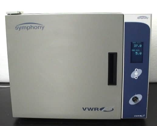 VWR Symphony CO2 Mini Incubator Model VDM3001S9ABA