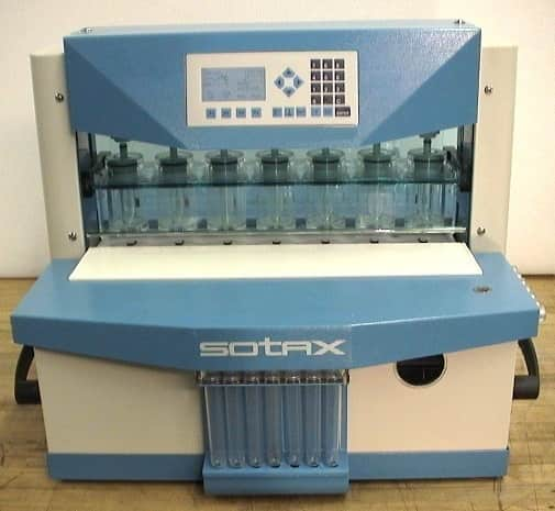 Sotax CE 7 Smart Dissolution System with Sampling System, CP 7 Pump, C613 Sample Collector, 7-Kanal Syringe Dispenser and Tube Holder Tray