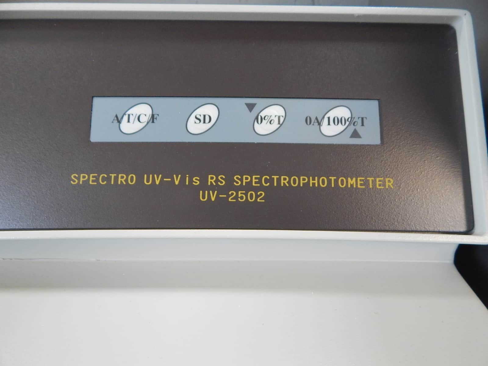 Spectro UV-VIS 2502 Single Beam Spectrophotometer