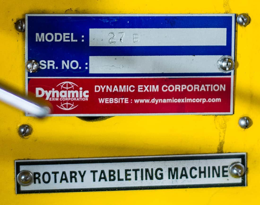 Dynamic Exim Corporation 27B Double Rotary  Press Machine