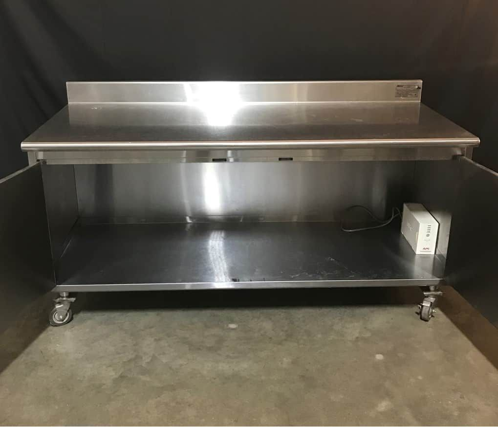 """Eagle Group CBH 30"""" x 70"""" Work Table with Cabinet"""