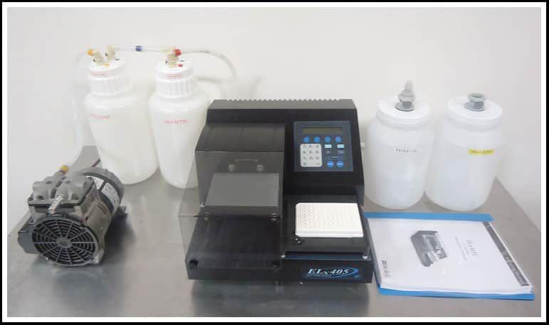 Bio-Tek Microplate 96 Washer ELx405 COMPLETE w WARRANTY