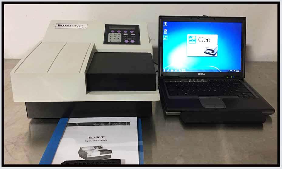 Bio-Tek ELx808 IU Microplate Reader COMPLETE w WARRANTY