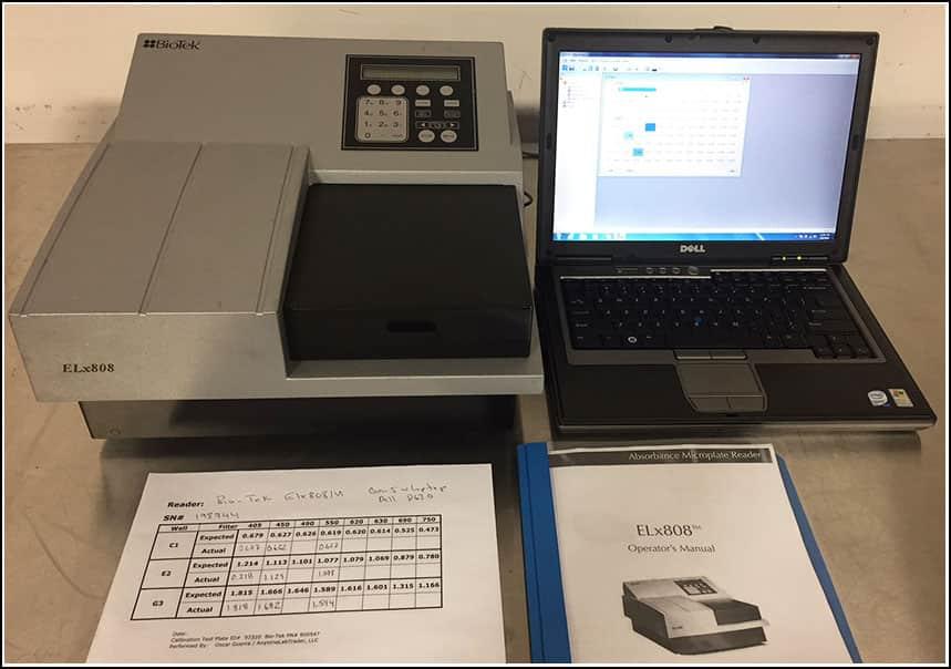 Bio-Tek ELx808 Microplate Reader w Gen5 Software w WARRANTY