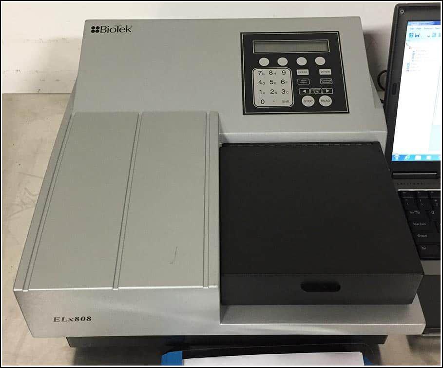 Bio-Tek Elx808 Microplate Reader Spectrophotometer COMPLETE w WARRANTY
