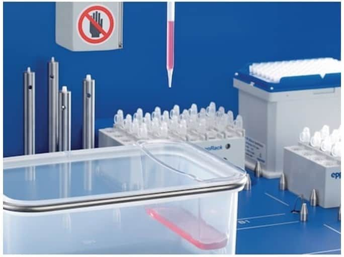 Eppendorf EpMotion 5073m liquid handling robot with accessories
