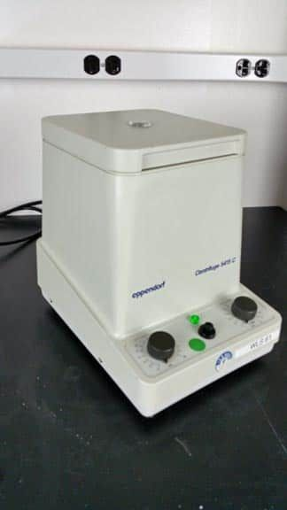 Microcentrifuge;  Eppendorf 5415C 14,000 rpm with rotor