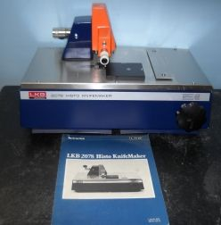 MISCELLANEOUS LABORATORY EQUIPMENT Lkb bromma 2078 histo knife maker P/N: 90 01 0611, S/N: 246. With