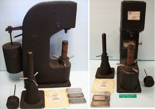 LAB EQUIPMENT Acco wilson instrument, wilson hardness tester model j brinell, serial no. 75104, 31-6