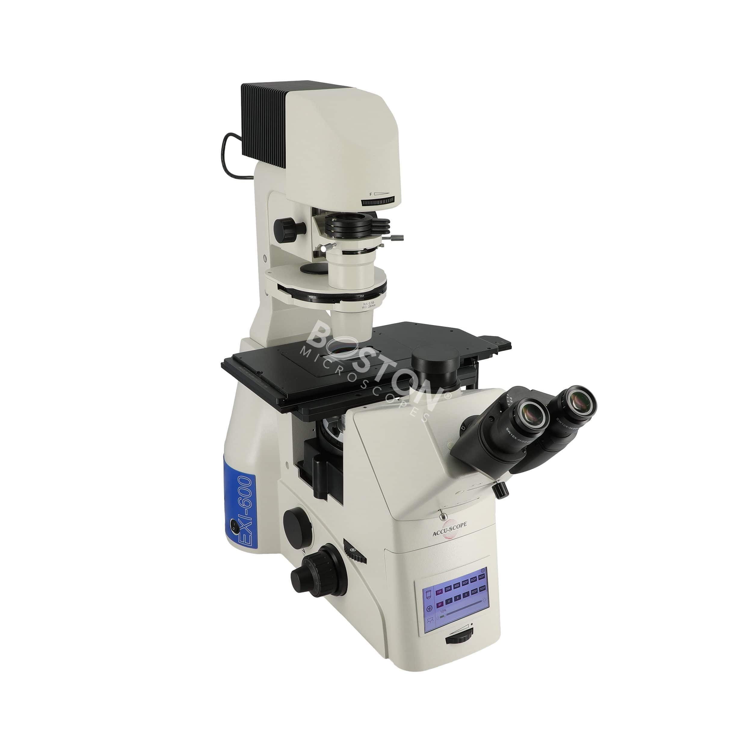 Accu-Scope EXI-600 LED Fluorescence Phase Contrast Inverted Microscope