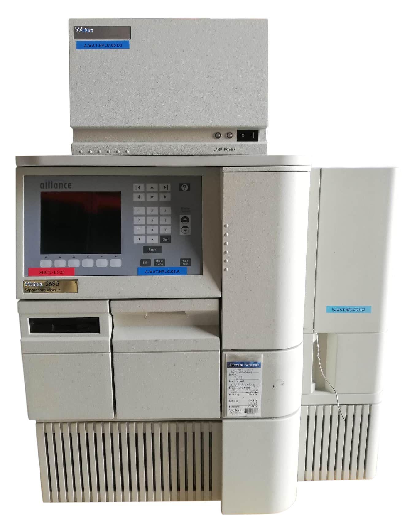 Système HPLC Waters Alliance 2695 et 2998 PDA