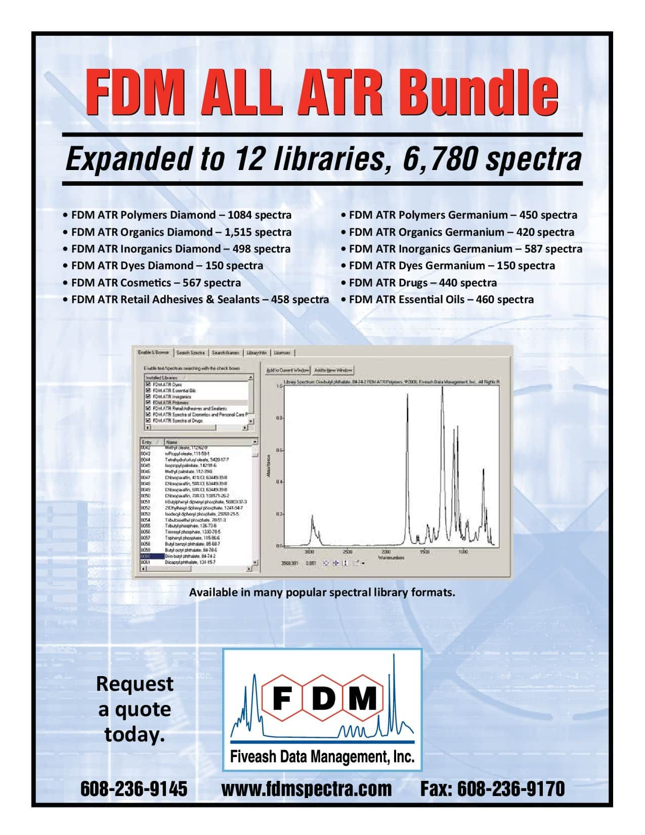 12 ATR/FTIR Libraries
