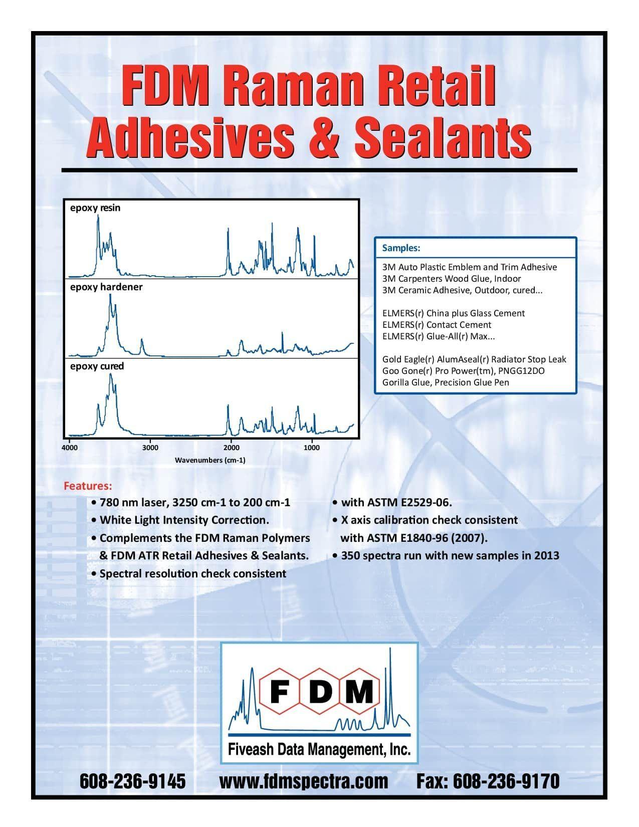 FDM Raman Retail Adhesives & Sealants