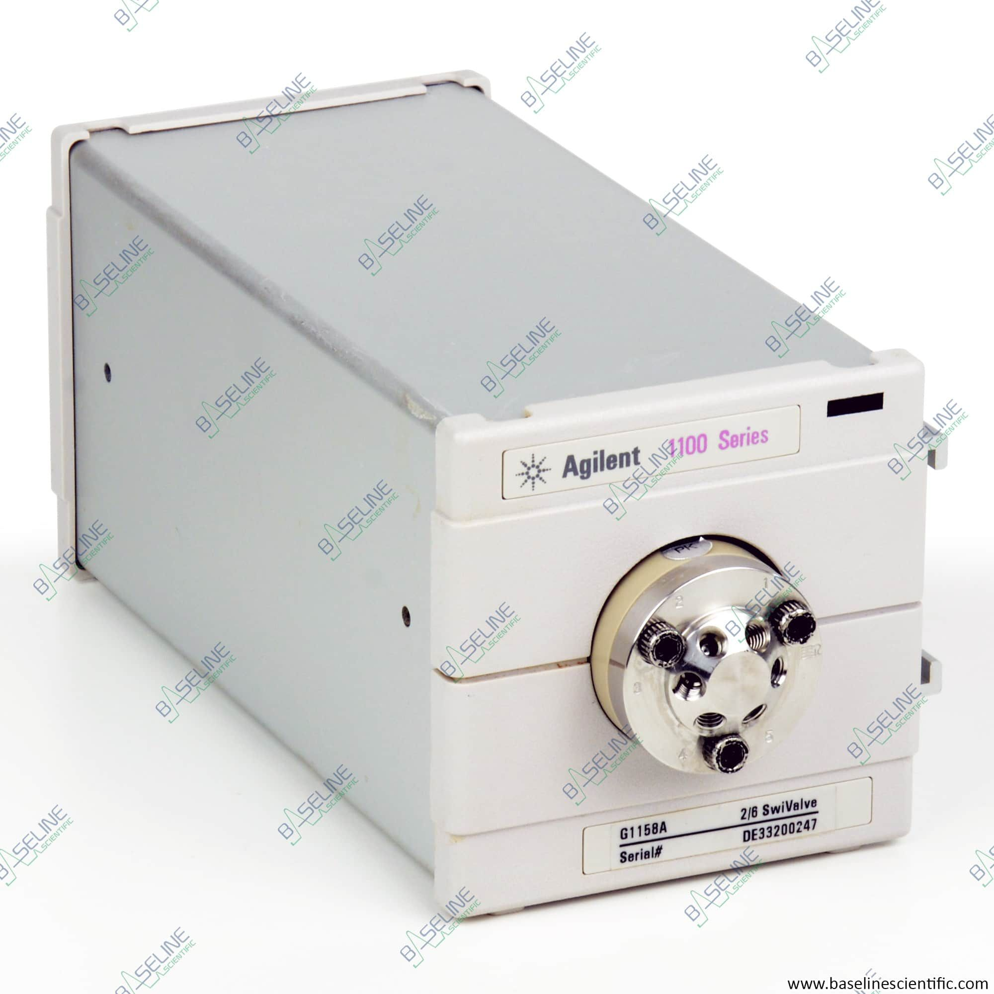 Refurbished Agilent HP 1100 G1158A 2 Position 6 Port Valve with ONE YEAR WARRANTY